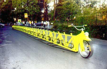 Longest-Bicycle; Ten Wacky Vehicles Crazy