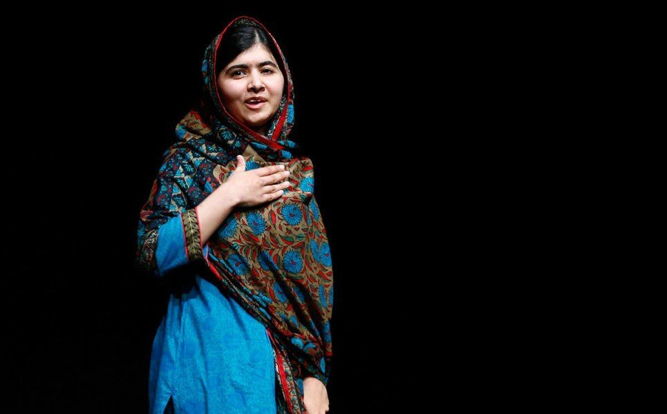 12. Pakistani schoolgirl Malala Yousafzai, the joint winner of the Nobel Peace Prize, speaks at Birmingham library, England - October 10, 2014.