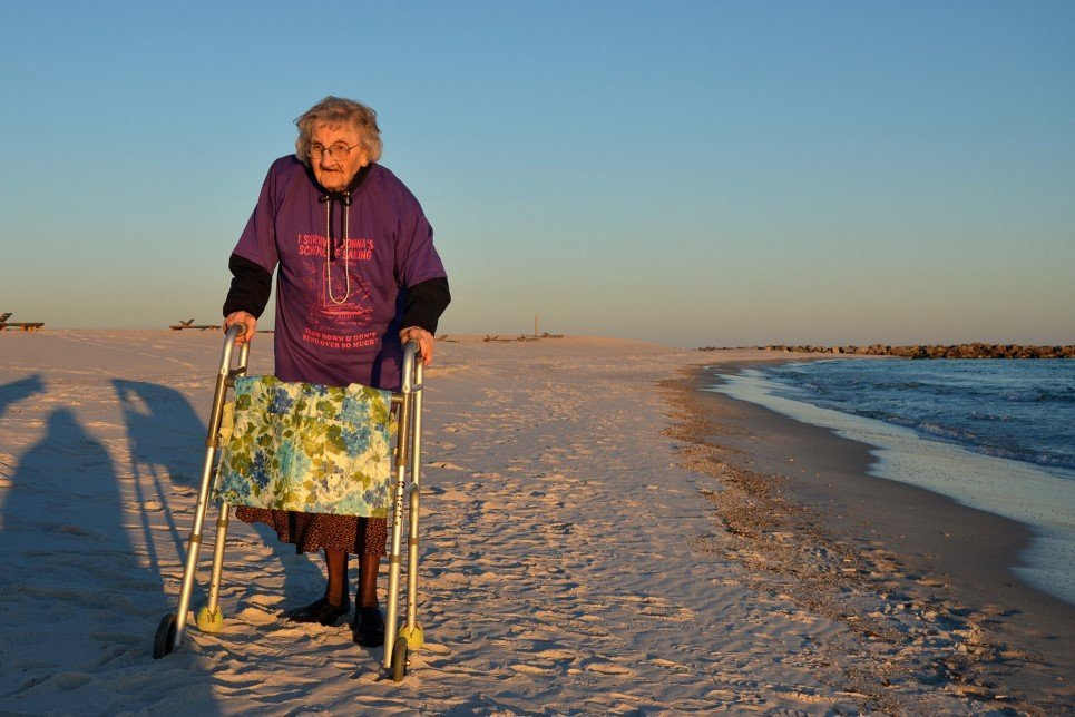 70. A 100 year old woman named Ruby Holt from Columbia, Tennessee, visited the beach for the first time in her life - November 19, 2014.