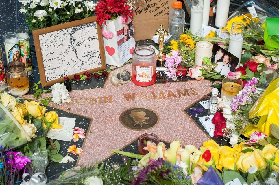 79. Flowers were placed on Robin Williams' Hollywood Walk of Fame star in Los Angeles, California - August 12, 2014.