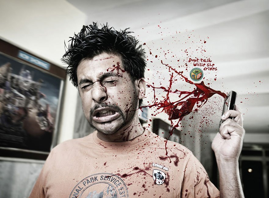 Powerful Ads - Bangalore Traffic Police: Don't Talk While Driving