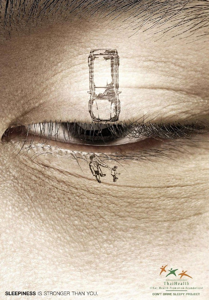Sleepiness Is Stronger Than You. Don't Drive Sleepy