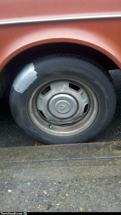 7. Try repairing a busted tire