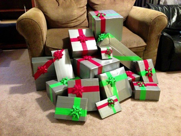 9. Wrap gifts