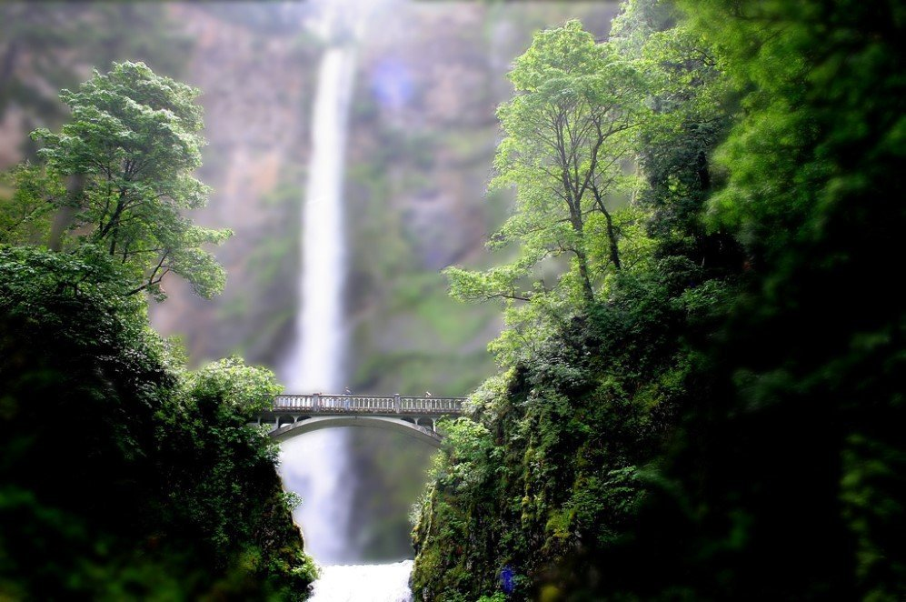 Mini Multnomah Falls by Pforbinesque