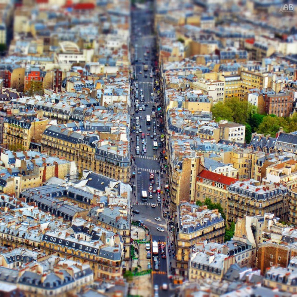 Tilt-Shift Paris by Alexandra Petrova