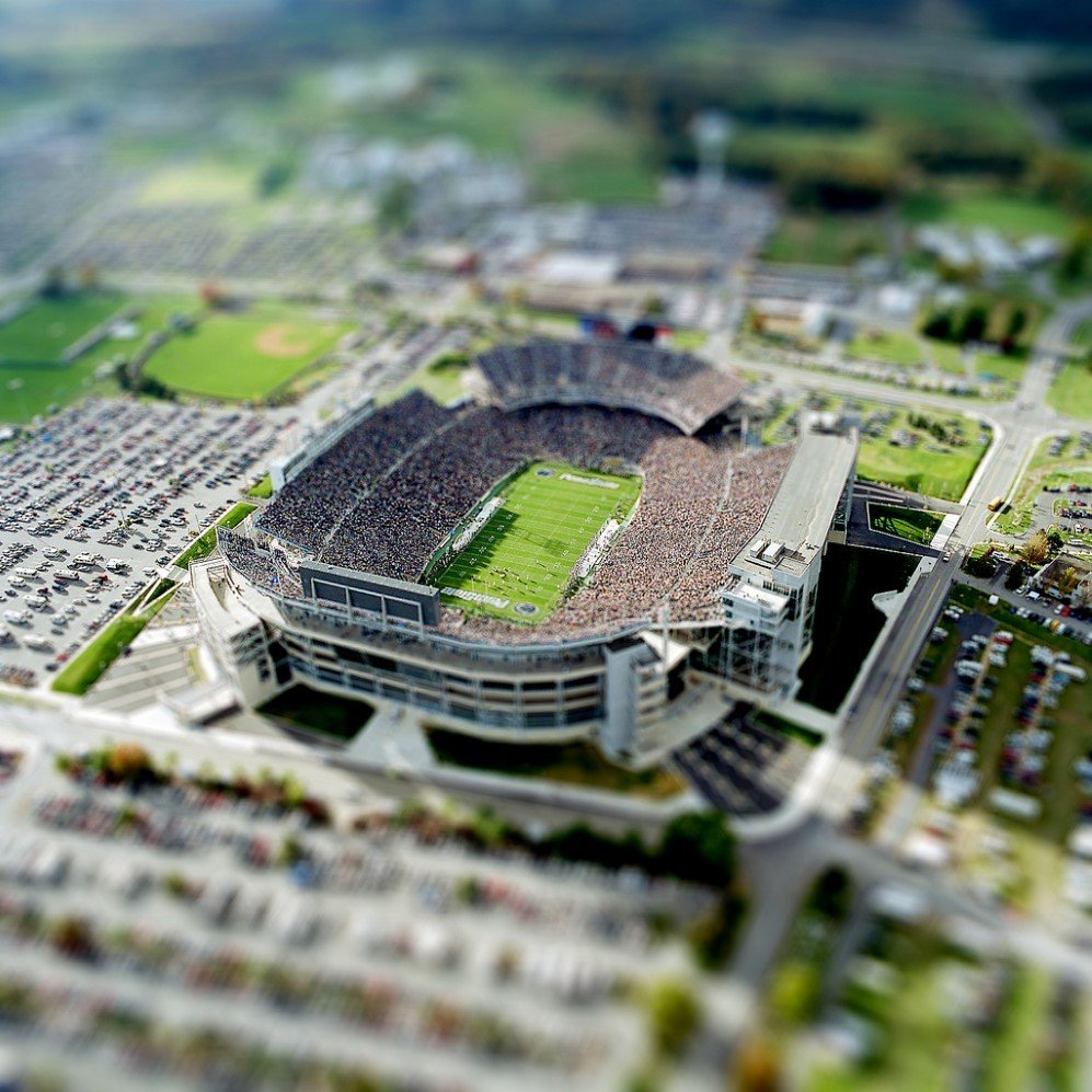 Beaver Stadium facing south, 2001 Photo: Greg Grieco