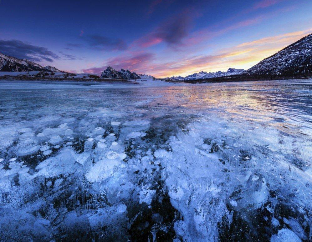Lake Abraham in Alberta, Canada