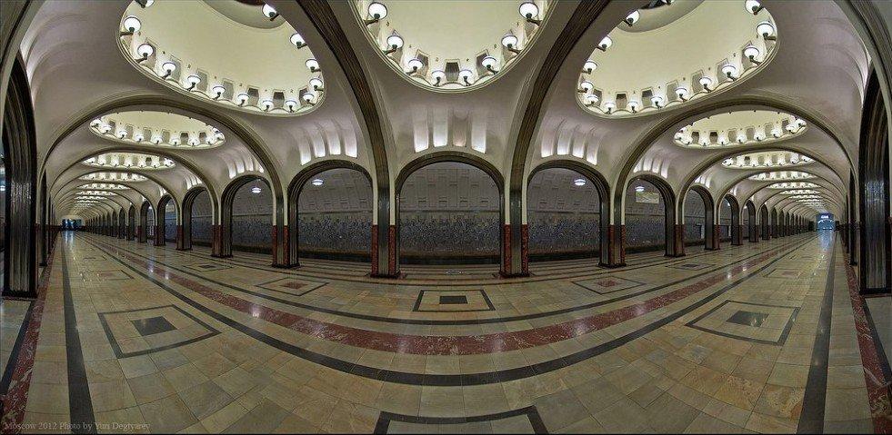 Mayakovskaya Metro Station, Moscow, Russia