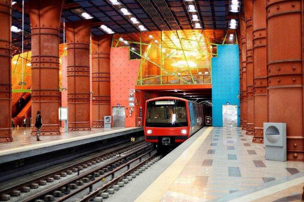 Olaias Metro Station, Lisbon, Portugal