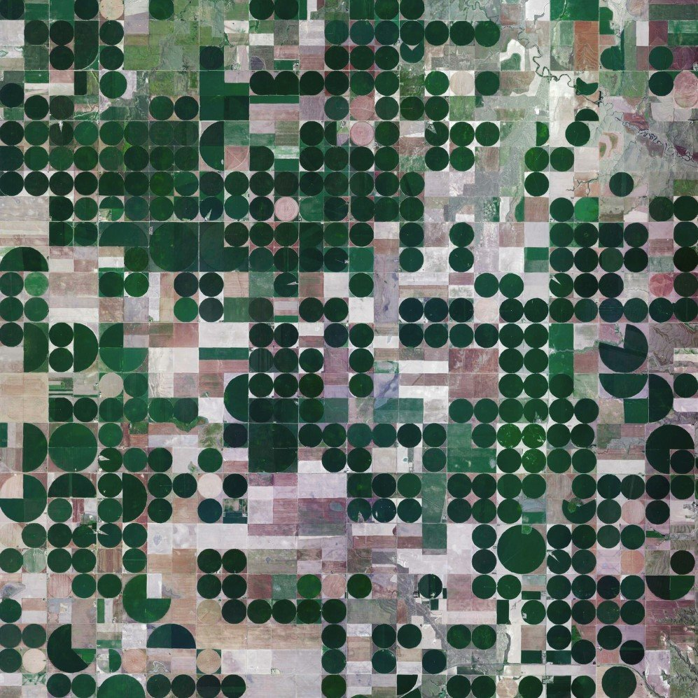 Pivot irrigation fields