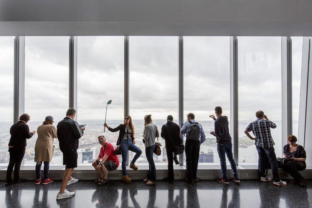 The One World Observatory opened at One World Trade Center 14 years after 9/11 in New York. Measuring 1,776 ft. tall, One World Trade Center is the tallest building in the Western Hemisphere.