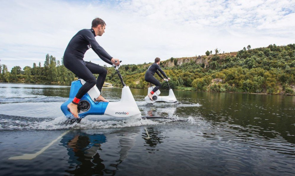 Now You Can Go Cycling On Water With Manta5 S New Electric Water Bike