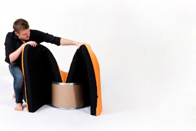 Paq Chair Is The Simplest Armchair With An Interesting Twist