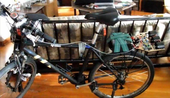 Bicycle powered by electric-ducted fans; Crazy