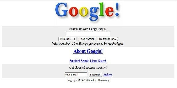 How the Biggest Websites of the World Looked like at the Time of Their Inception
