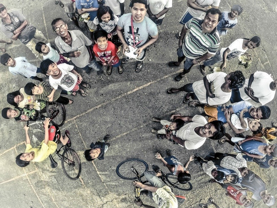 15. All eyes on the drone in San Jose del Monte City, outside of Manila, Philippines.