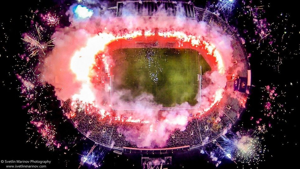 17. The fireworks celebrating the 100th anniversary of two of the country's biggest soccer teams in Sofia, Bulgaria.