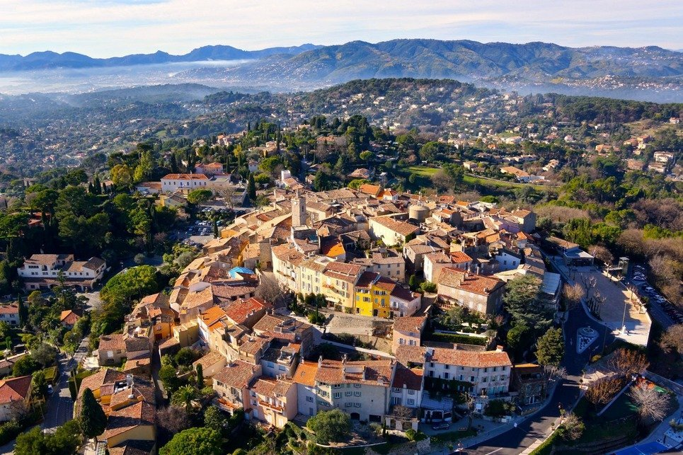19. The city of Mougins near Cannes in France.