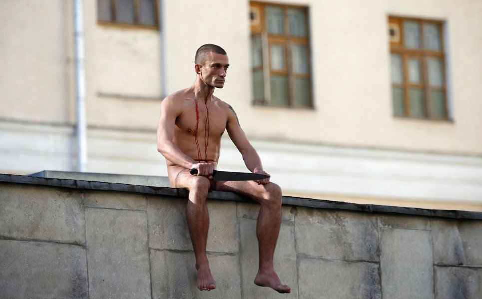 18. Artist Pyotr Pavlensky cut off a part of his earlobe during his protest 'Segregation' at the Serbsky State Scientific Center for Social and Forensic Psychiatry, Mo
