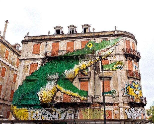 Libson, Portugal (2) Best Places To Witness Some Amazing Pieces of Street Art