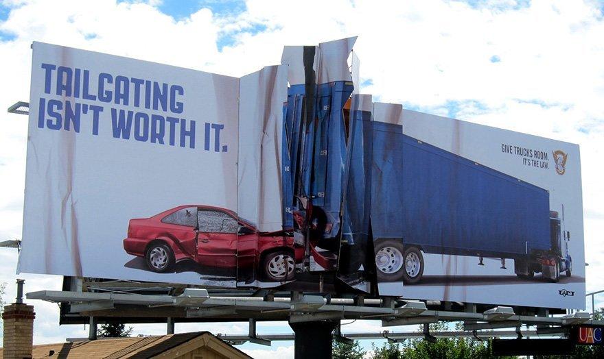 Tailgating Isn't Worth It. Give Trucks Room