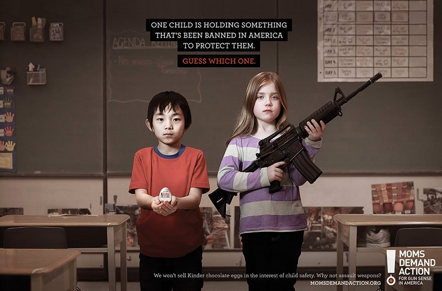 One Child Is Holding Something That's Been Banned in America to Protect Them. Guess Which One?