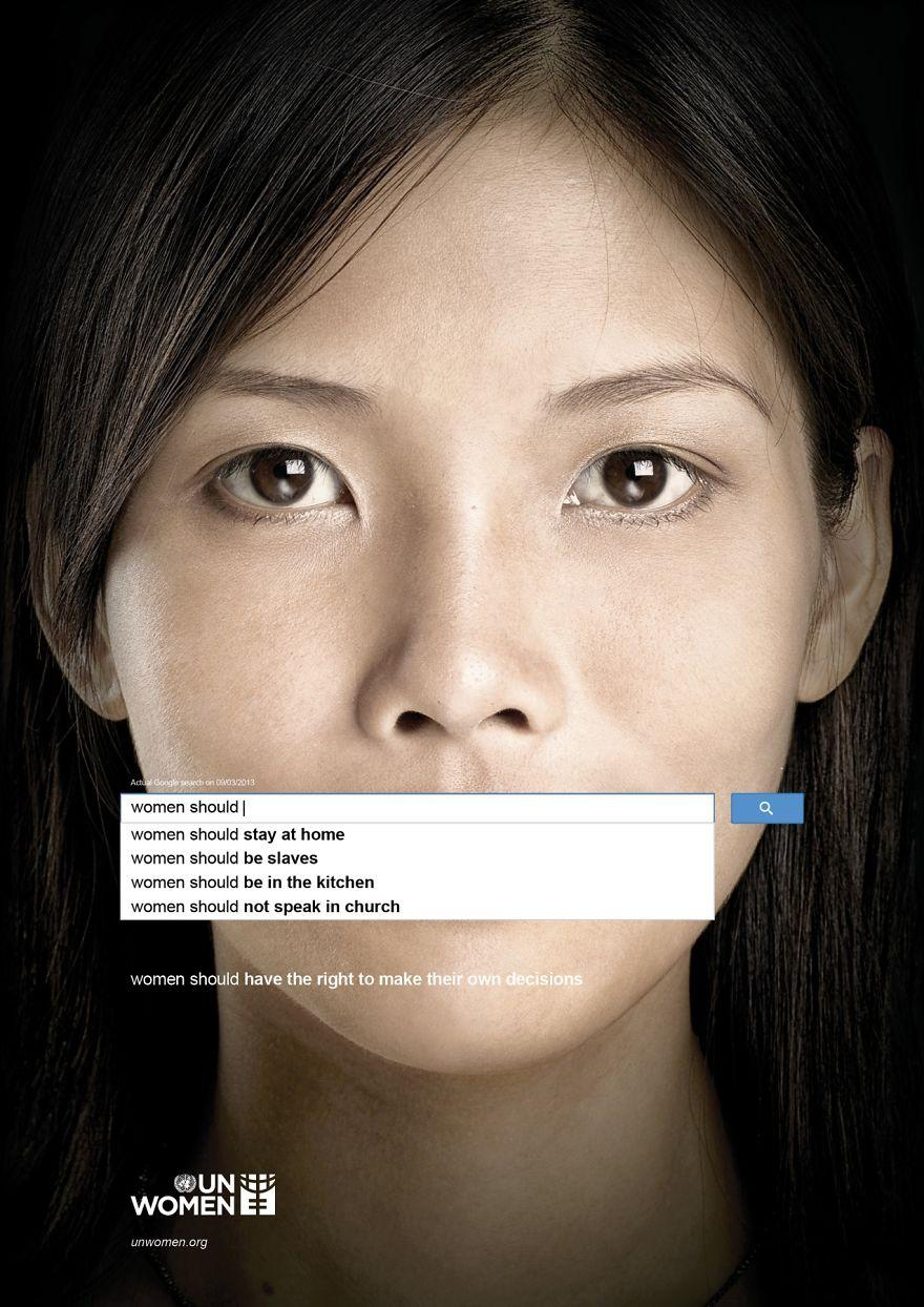UN Women: Auto-Complete Shows Perceptions of Women - Powerful Ads