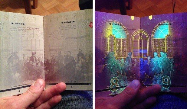 Canadian Passport Under UV Light (3)