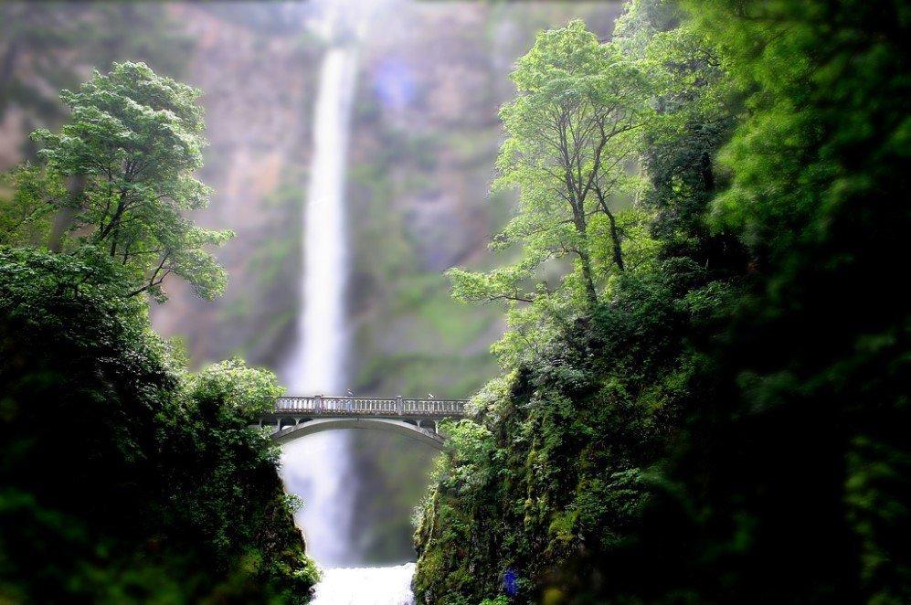 Mini Multnomah Falls by Pforbinesque