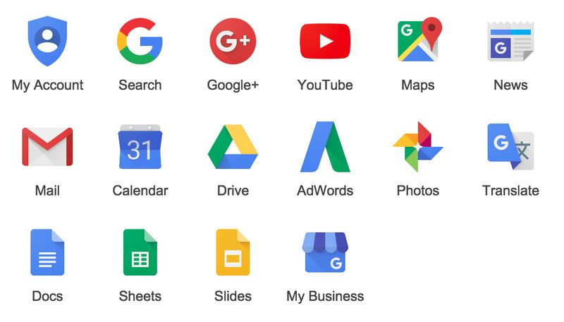New Logos of Various Google Services