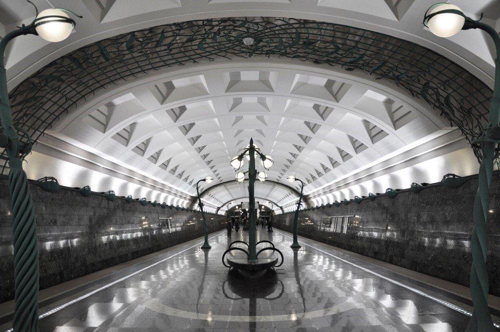 Slavyansky Bulvar Station, Moscow, Russia
