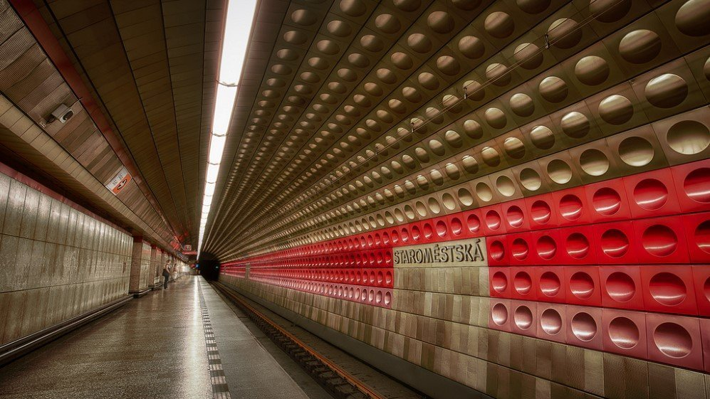 Staromestska Station, Prague, Czech Republic