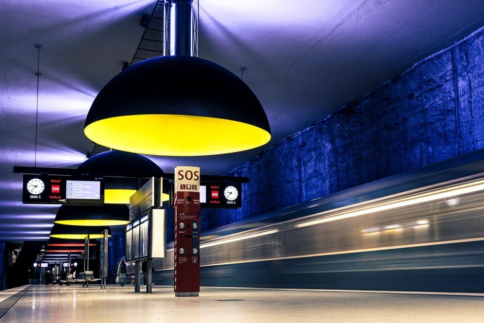 Westfriedhof Subway Station, Munich, Germany