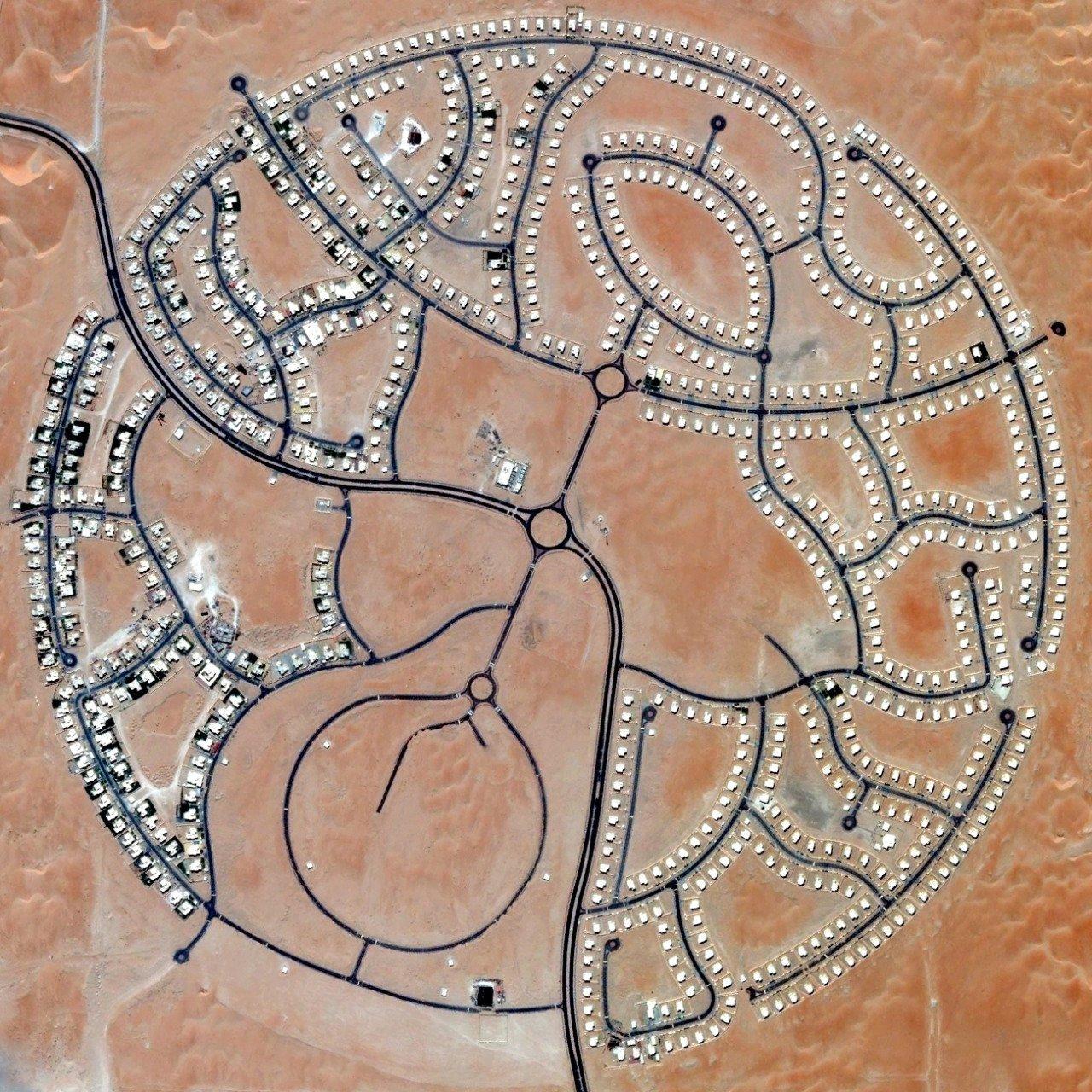 The villas of Marabe Al Dhafra in Abu Dhabi