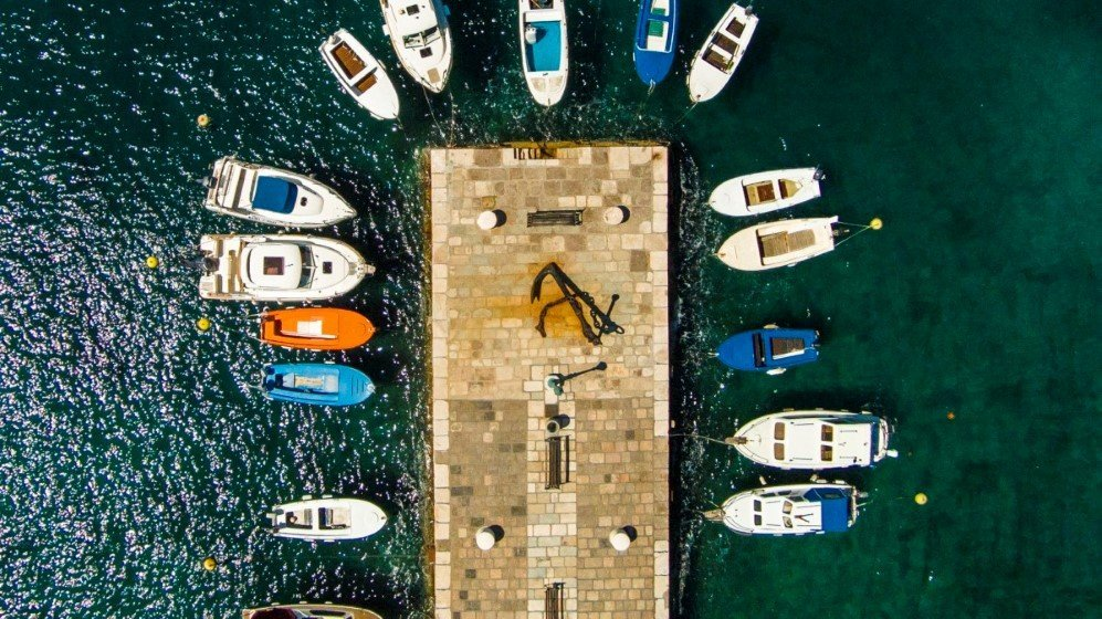 Pier in Senj, Croatia.
