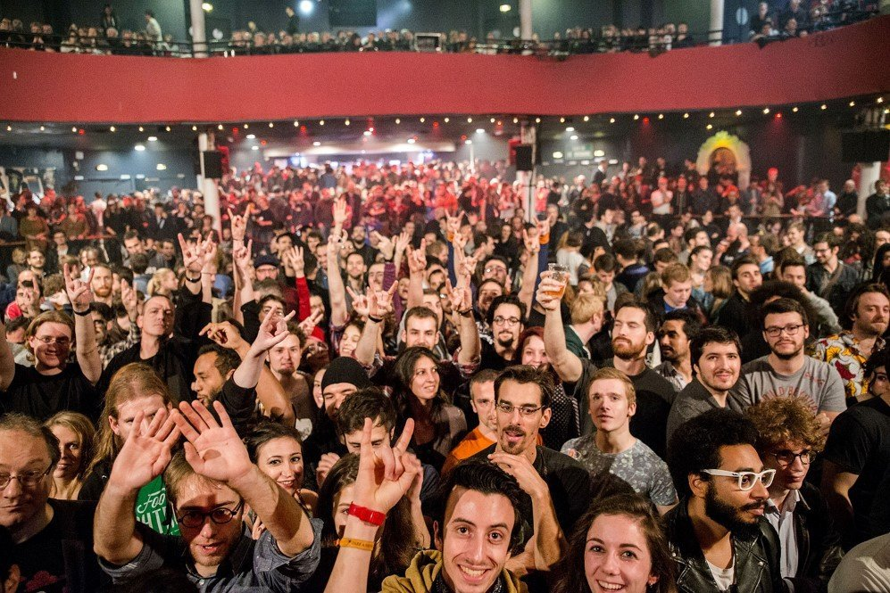A view from the stage during the Eagles of Death Metal concert at the Bataclan. This photo was taken just minutes before attackers stormed the venue and killed 89 people – Nov. 13, 2015.