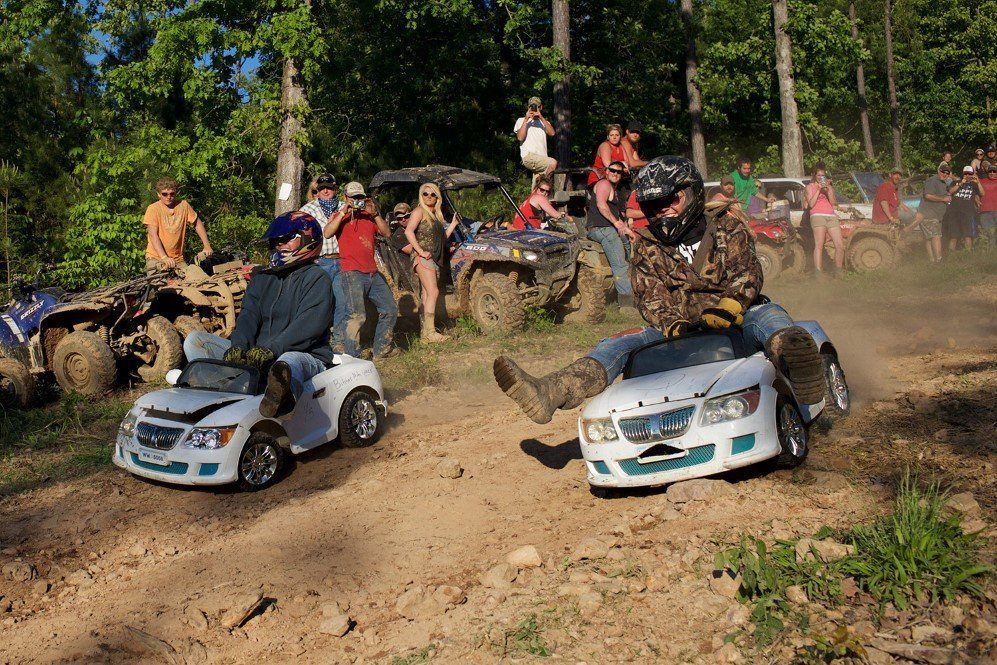 Extreme Barbie Jeep Racing during the annual Rally that takes place in Booneville, Arkansas.