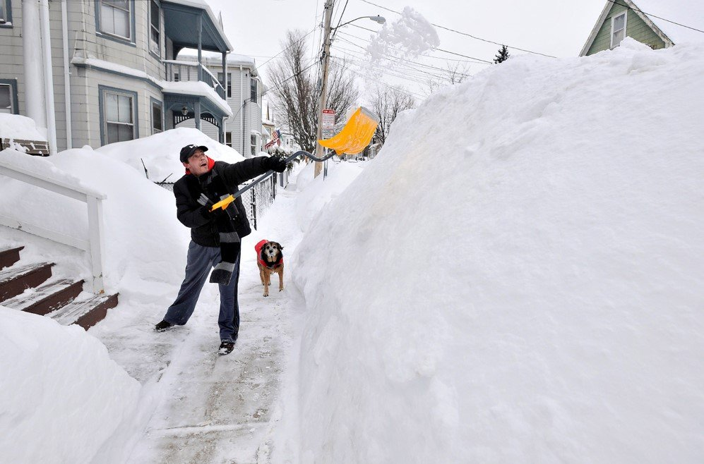 Somerville, Massachusetts got more than 70 inches of snow last winter – Feb. 10, 2015.