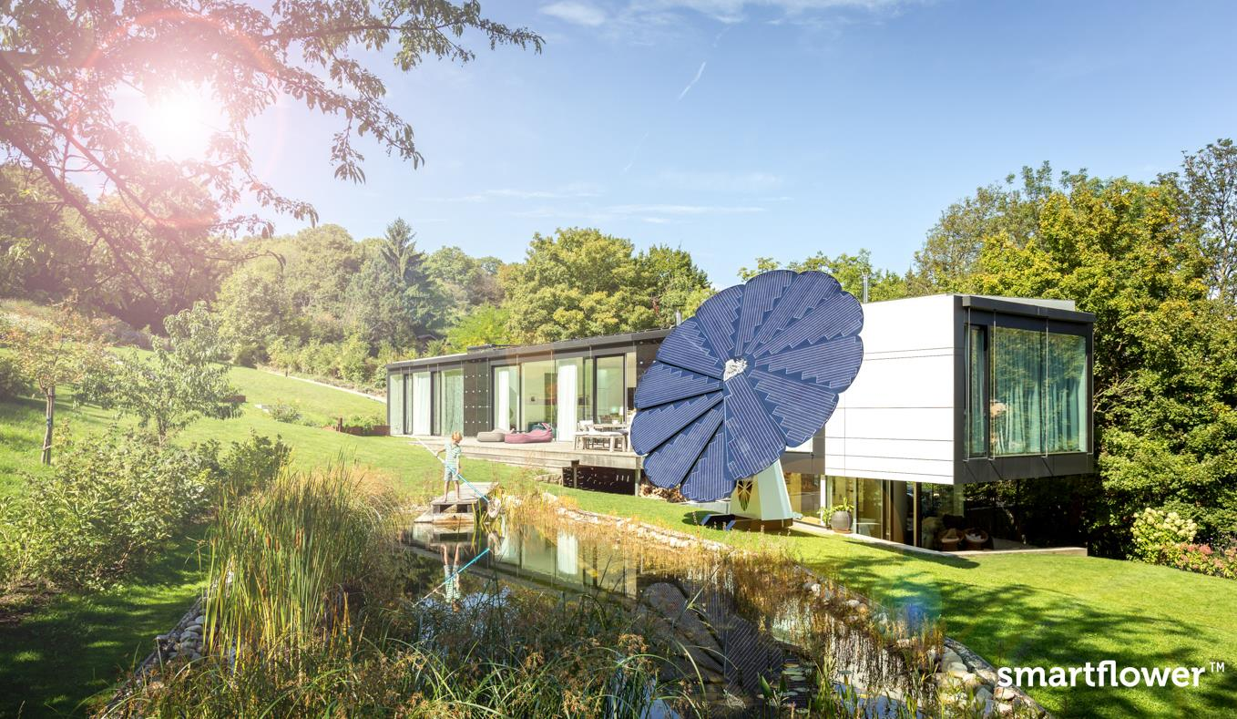 SmartFlower Solar System Follows The Sun To Produce 40% More