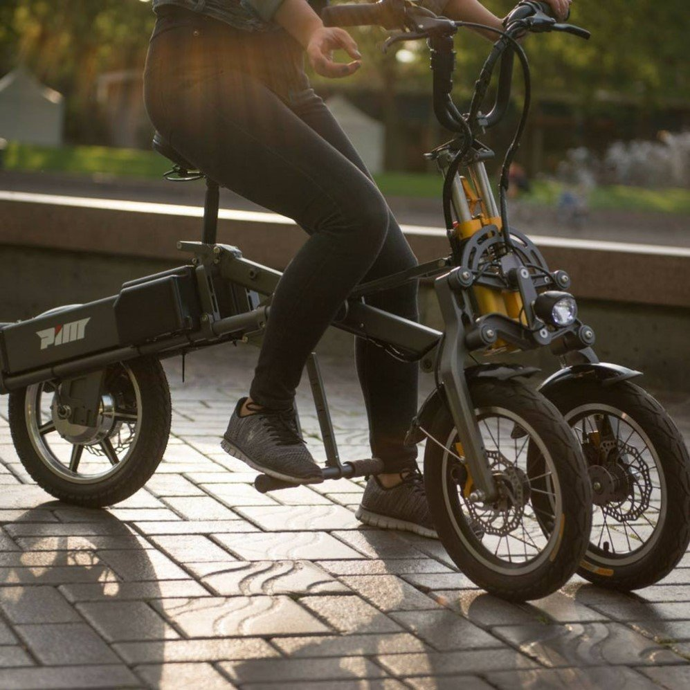 Mylo' is a fold-able electric scooter that you can carry along in a