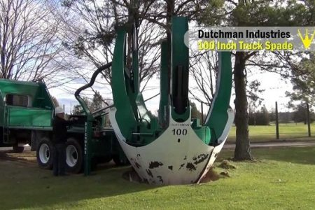 Dutchman Tree Spade can uproot trees and replant them elsewhere