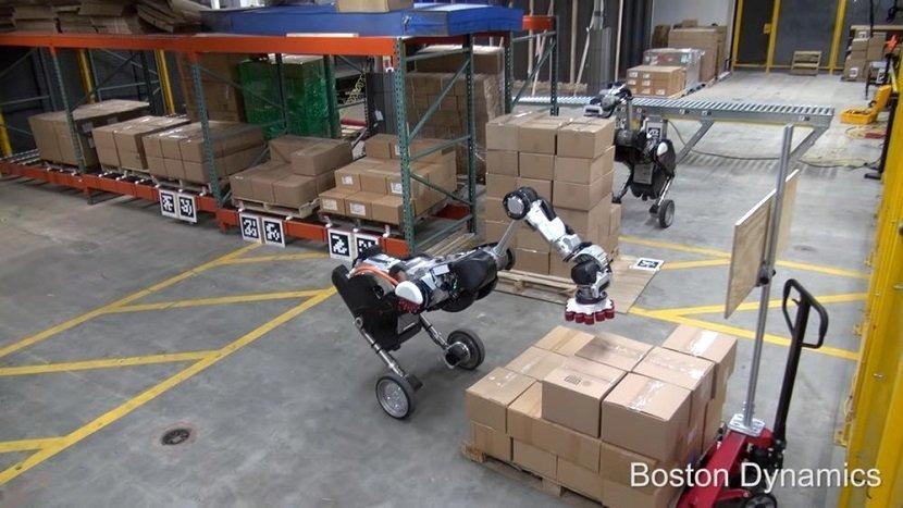Boston Dynamics Handle Warehouse Robot
