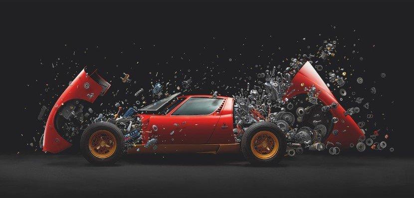 Car explosion by Fabian Oefner
