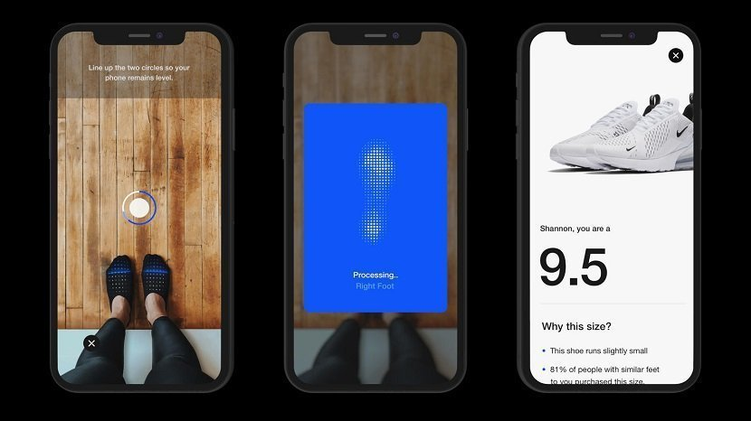 Nike AR App for Shoe Size
