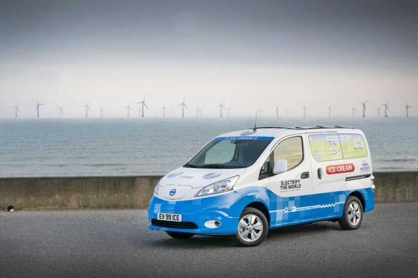 Nissan Ice Cream Van Electric Powered Zero Emission