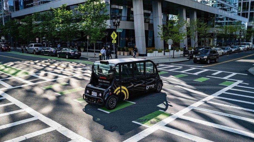 Optimus Ride Autonomous Self-Driving Shuttle Bus