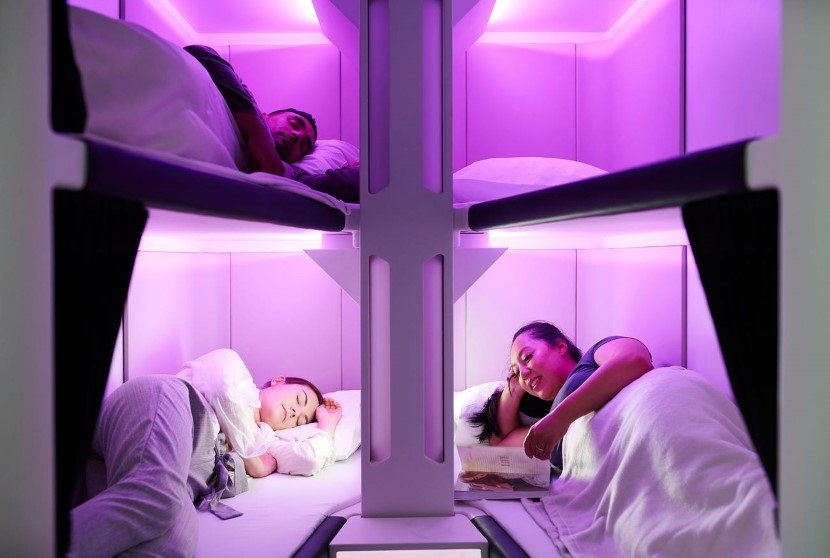 Sleeping Pods within long hauling flights from New Zealand