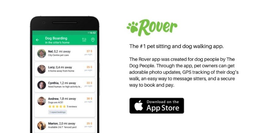 Rover is the most popular app