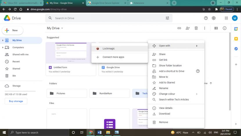 Google Drive - LockMagic Extension